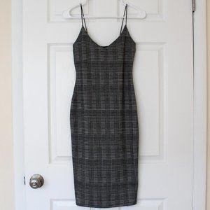 Houndstooth Midi Bodycon Dress